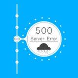 Servidor abstrato do erro da conexão do fundo 500 dos vetores Imagens de Stock
