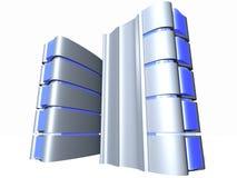 Servidor con el vidrio azul Foto de archivo libre de regalías