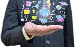Servidor da nuvem que tira disponível o close up, Imagens de Stock