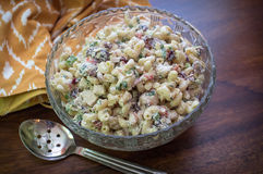 Servidor da salada de macarrão Fotografia de Stock