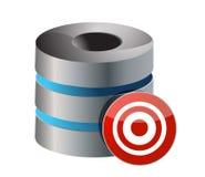 Servidor de base de datos con la blanco Fotografía de archivo libre de regalías