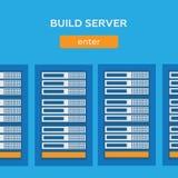 Servidor de la estructura de la base de datos de Internet de la red ilustración del vector