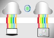 Servidor de la nube del ordenador Fotografía de archivo libre de regalías