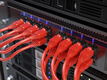 Servidor de la red de ordenadores Foto de archivo libre de regalías