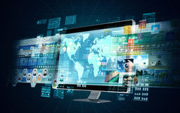 Servidor de las multimedias de Internet Imagen de archivo libre de regalías