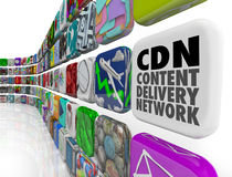 Servidor de red del software del programa del App de la red de la entrega del contenido de CDN Imagen de archivo libre de regalías