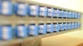 Servidor de rede da fibra video estoque