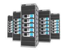 servidores 3d Imagen de archivo libre de regalías