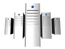 servidores 3D Foto de archivo