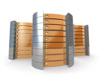 servidores 3D ilustración del vector