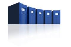 Servidores azules en un círculo Foto de archivo libre de regalías