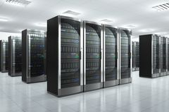 Servidores de red en datacenter libre illustration