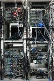 Servidores de red en sitio de los datos Foto de archivo