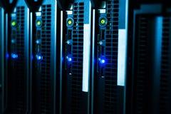 Servidores de red en sitio de los datos Imagenes de archivo