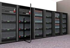 Servidores del ordenador Imágenes de archivo libres de regalías