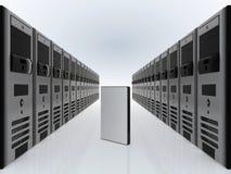 Servidores del ordenador y caso del software de DVD Fotos de archivo libres de regalías