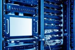 Servidores e interruptores fotografía de archivo
