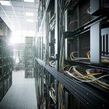 Servidores y foto del concepto de la informática del sitio del hardware Fotografía de archivo libre de regalías