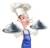 Servierplatten-Chef Cartoon Stockbilder
