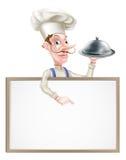 Servierplatten-Chef Sign Lizenzfreie Stockfotos