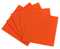 Serviette alaranjado do papel quadrado (tecido) Foto de Stock Royalty Free