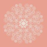 Serviette blanche de dentelle sur le fond rose illustration de vecteur