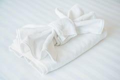 Serviette blanche simple Photos libres de droits