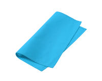 Serviette bleue Photo stock