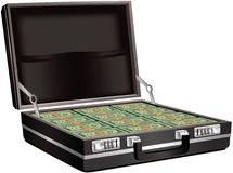 Serviette complètement d'argent comptant Image libre de droits