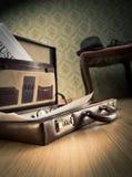 Serviette d'homme d'affaires de vintage Photos stock