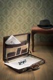 Serviette d'homme d'affaires de vintage Image libre de droits