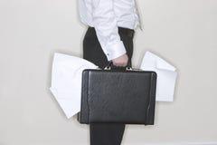 Serviette de fixation d'homme d'affaires image stock