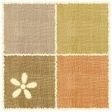 Serviette de linho do weave com applique e franja Imagens de Stock Royalty Free