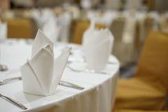 Serviette on dinner Royalty Free Stock Images