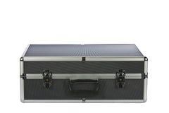 Serviette en aluminium complétée par noir d'isolement sur le blanc photographie stock