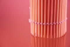 Serviette en bambou dans un roulis Photographie stock libre de droits