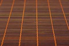 Serviette en bambou pour un fond numéro trois Photo stock