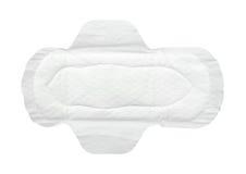 Serviette hygiénique photo stock