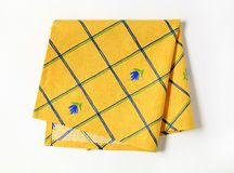 Serviette jaune Photo libre de droits