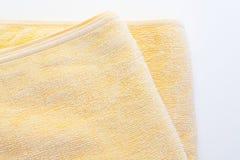 Serviette jaune Image libre de droits