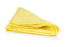 Serviette jaune de cuisine images libres de droits