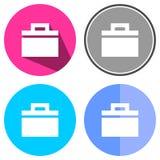 Serviette plate d'icônes Images stock