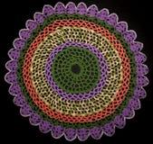 Serviette tricotée ronde Images libres de droits