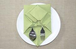 Servietten-Origami Stockbild