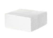 Serviettes blanches de barre carrée Photo libre de droits