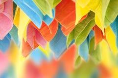 Serviettes colorées accrochantes Photo stock