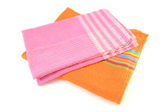 Serviettes colorées de tissu Photos stock