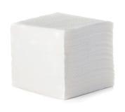 Serviettes d'isolement sur le blanc Photo stock