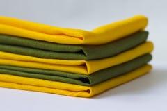 Serviettes de couleur Photos libres de droits