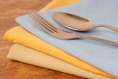 Serviettes de dîner Images stock